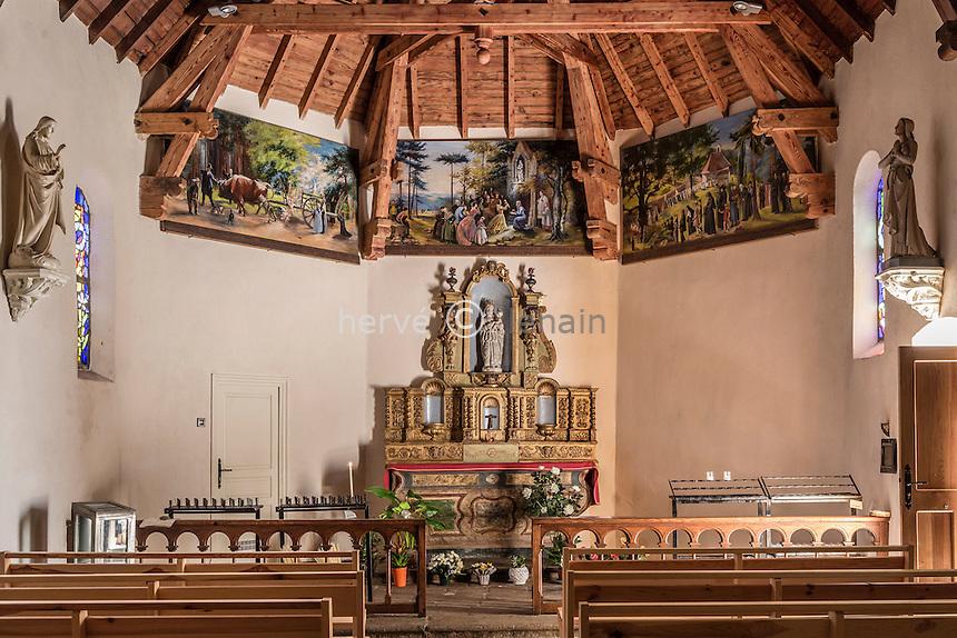 France, Haute-Loire (43), Aurec-sur-Loire, chapelle Notre-Dame de la Faye // France, Haute Loire, Aurec sur Loire, Notre Dame de la Faye chapel
