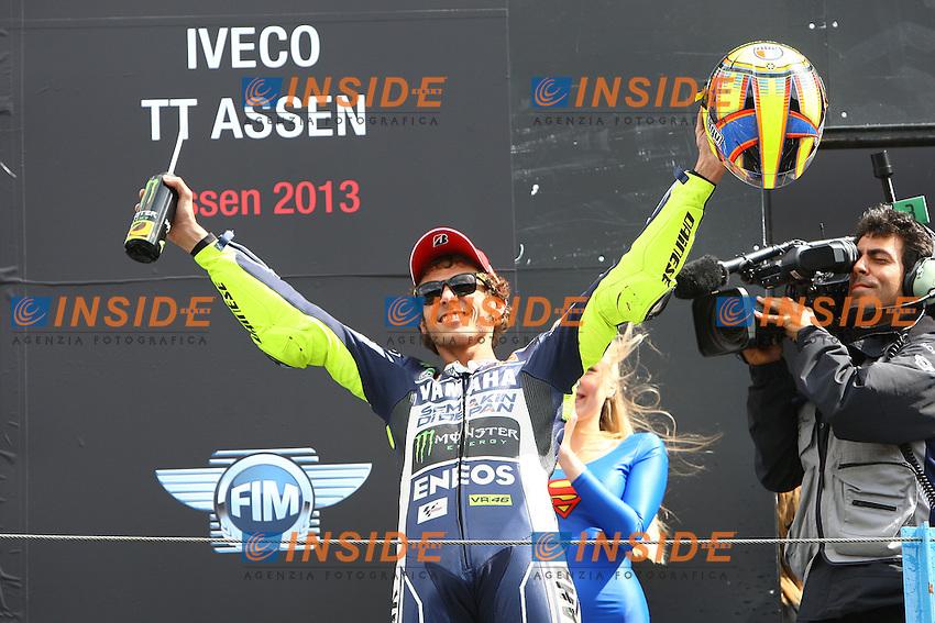 29-06-2013 Assen (NDL)<br /> Motogp world championship<br /> Valentino Rossi vincitore della gara - Yamaha factory team <br /> Foto Semedia / Insidefoto