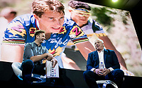 "tripple Tour winner Greg Lemond interviewed on stage<br /> <br /> Rouleur Classic London 2019<br /> ""The World's Finest Road Cycling Exhibition""<br /> <br /> ©kramon"