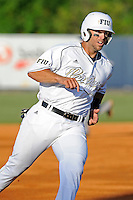 5 May 2012:  FIU's Mike Martinez (40) rounds third base as the FIU Golden Panthers defeated the Middle Tennessee State University Blue Raiders, 12-6, at University Park Stadium in Miami, Florida.  With his first inning single, Martinez became FIU's all-time hit leader.