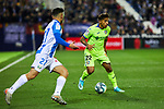 Oscar Rodriguez of CD Leganes and Damian Suarez of Getafe FC during La Liga match between CD Leganes and Getafe CF at Butarque Stadium in Leganes, Spain. January 17, 2020. (ALTERPHOTOS/A. Perez Meca)