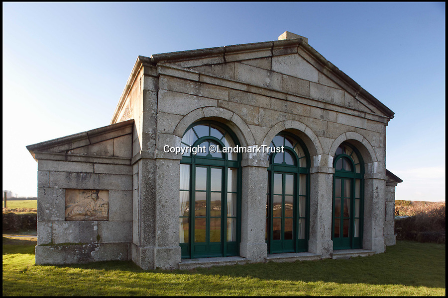 BNPS.co.uk (01202 558833)Pic: LandmarkTrust/BNPS<br /> <br /> Whiteford Temple in Cornwall.<br /> <br /> Fancy escaping the in-laws this Xmas ??<br /> <br /> The Landmark Trust has just released a list of fantastic and unusual properties that are still available for the festive season.<br /> <br /> An abandoned fort, a castle gatehouse on a moated island and a fisherman's beachside cottage are just some of the unusual places to stay this festive season for those who want a less traditional Christmas.<br /> <br /> The Landmark Trust, a building conservation charity, has a host of weird and wonderful properties people can rent out this holiday to experience something a bit different.<br /> <br /> The trust rescues run-down buildings that have architectural or historical merit then puts them up for holiday rental. <br /> <br /> They say for those that want to avoid family squabbles and too much turkey it's not too late to book for a Christmas getaway.