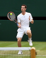 The Championships Wimbledon 2014 - The All England Lawn Tennis Club -  London - UK -  ATP - ITF - WTA-2014  - Grand Slam - Great Britain -  30th.June 2014. <br /> ANDY MURRAY (GBR)<br /> <br /> © J.Hasenkopf / Tennis Photo Network