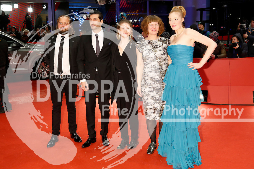 Magnus Millang, Fares Fares, Martha Sofie Wallstrom Hansen, Anne Gry Henningsen and  Julie Agnete Vang attending the 'Kollektivet / The Commune / Die Kommune' premiere at the 66th Berlin International Film Festival / Berlinale 2016 at  Berlinale Palast on February 17, 2016  in Berlin, Germany.