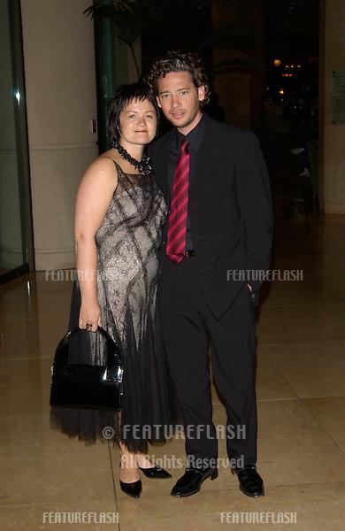 Actor DEXTER FLETCHER & wife at the 11th Annual BAFTA/LA Britannia Awards at the Beverly Hills Hilton..12APR2002.  © Paul Smith / Featureflash