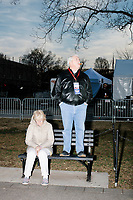 Don Patterson, mayor of Kettering, Ohio, and wife Maureen Patterson, watch the Make America Great Again! Welcome Celebration honoring soon-to-be president Donald Trump at the Lincoln Memorial in  Washington, D.C., on Thurs., Jan. 19, 2017, the day before the presidential inauguration of Donald Trump. The event had musical performances, speeches, and an appearance by Trump and his family. Patterson said this was the third inauguration he had attended.