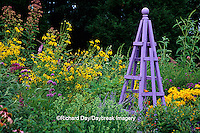 63821-18606 Purple obelisk in flower garden, Marion Co. IL