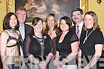 ENJOYABLE: Enjoying The Manor West Hotel, Tralee, party at The Grand Hotel on Sunday evening. Front l-r: Carol Kennelly, Ruth O'Reilly, Nicola O'Callaghan and Maud O'Connor. Back l-r: Jim Feeney, Annette Galvin and Richard O'Connor.