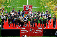 Lucas Biglia (RSC Anderlecht)  .Anderlecht Campione del Belgio .Bruxelles 6/5/2012.Football Calcio 2011/ 2012.RSC Anderlecht vs Club Brugge - Jupiler League.Foto Insidefoto / Philippe Crochet / Photo News / Panoramic