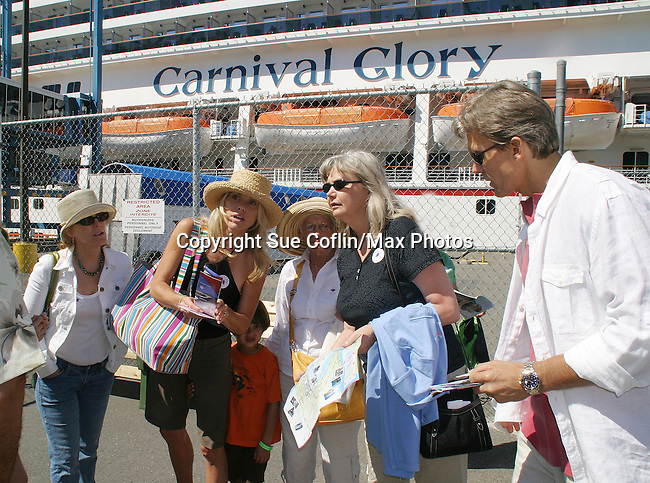 Liz Keifer - Beth Chamberlin son Luke - mom Sally - Sherry & Grant Aleksander - Day 2 - August 1, 2010 - So Long Springfield at Sea - A day in port in Saint John, New Brunswick, Canada from the Carnival's Glory (Photos by Sue Coflin/Max Photos)