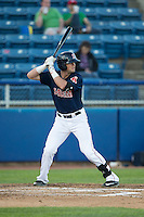 Jordan Betts (41) of the Salem Red Sox at bat against the Winston-Salem Dash at LewisGale Field at Salem Memorial Ballpark on May 13, 2015 in Salem, Virginia.  The Red Sox defeated the Dash 8-2.  (Brian Westerholt/Four Seam Images)
