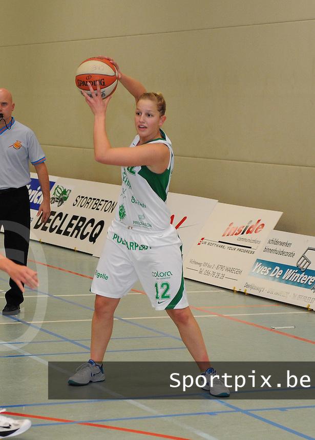 Dames Basket DS Waregem :.Liza Biebuyck.foto VDB / BART VANDENBROUCKE