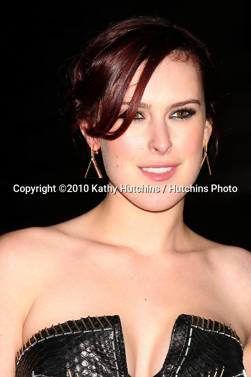 Rumer Willis .arriving at the 3rd Annual Art of Elysium Gala.Rooftop of Parking Garage across from Beverly Hilton Hotel.Beverly Hills, CA.January 16, 2010.©2010 Kathy Hutchins / Hutchins Photo....