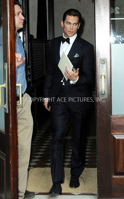 WWW.ACEPIXS.COM<br /> <br /> May 4 2015, New York City<br /> <br /> Actor Matt Bomer at a downtown hotel on May 4 2015 in New York City<br /> <br /> By Line: Curtis Means/ACE Pictures<br /> <br /> <br /> ACE Pictures, Inc.<br /> tel: 646 769 0430<br /> Email: info@acepixs.com<br /> www.acepixs.com