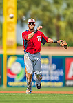 2 March 2013: Washington Nationals shortstop Ian Desmond in action during a Spring Training game against the St. Louis Cardinals at Roger Dean Stadium in Jupiter, Florida. The Nationals defeated the Cardinals 6-2 in their first meeting since the NLDS series in October of 2012. Mandatory Credit: Ed Wolfstein Photo *** RAW (NEF) Image File Available ***