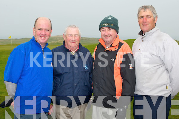 TRALEE GOLF CLUB: Enjoying a game of golf at Tralee golf club on Sunday l-r: Bob Dillon, Rory Kilgallen, Tom Moore and Micheal Coote (president). ..