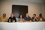 Apache Ramos, Thomas G. Waite, Deborah Van Valkenburgh, Michael Beck, Terry Michos, Dorsey Wright - The Warriors - 30 years reunion during Q & A at the Super Megashow & Comic Fest on August 30, 2009 in Secaucus, New Jersey (Photo by Sue Coflin/Max Photos)