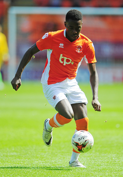 Blackpool's Bright Osayi-Samuel<br /> <br /> Photographer Kevin Barnes/CameraSport<br /> <br /> Football - The EFL Sky Bet League Two - Blackpool v Exeter City - Saturday 6th August 2016 - Bloomfield Road - Blackpool<br /> <br /> World Copyright © 2016 CameraSport. All rights reserved. 43 Linden Ave. Countesthorpe. Leicester. England. LE8 5PG - Tel: +44 (0) 116 277 4147 - admin@camerasport.com - www.camerasport.com