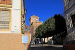 Village centre historic church in village of Nijar, Almeria, Spain