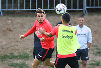 Nikolai Müller (Eintracht Frankfurt) gegen Carlos Salcedo (Eintracht Frankfurt) - 28.08.2018: Eintracht Frankfurt Training, Commerzbank Arena, DISCLAIMER: DFL regulations prohibit any use of photographs as image sequences and/or quasi-video.