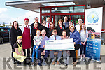 Seamus McCarthy and the family of the Late Mary Buckley-O'Keeffe presented the proceeds of the walk to Recovery Haven on Tuesday Front row: Laura O'Connor, Chloe O'Keeffe, Brendan O'Keeffe, Seamus McCarthy, Merrisa Reidy Recovery Haven, Noreen O'Brien Recovery Haven, and Emma O'Keeffe Back row l-r: Sinead Scanlon, Oliver Falvey, Helen Greaney, Michael Foley, Helen Flynn, Willie Cotter, Joanne Ahern, Norranne O'Connor, David Moore, Helen Cronin, James Brosnan.