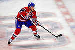 22 November 2008: Montreal Canadiens' center and Team Captain Saku Koivu from Finland in action during the second period against the Boston Bruins at the Bell Centre in Montreal, Quebec, Canada.  After a 2-2 regulation tie and a non-scoring 5-minute overtime period, the Boston Bruins scored the lone shootout goal thus defeating the Canadiens 3-2. The Canadiens, celebrating their 100th season, honored former Montreal goaltender Patrick Roy, and retired his jersey (Number 33) during pre-game ceremonies. ***** Editorial Use Only *****..Mandatory Photo Credit: Ed Wolfstein Photo *** Editorial Sales through Icon Sports Media *** www.iconsportsmedia.com