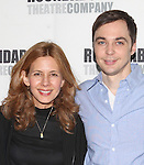 Jessica Hecht, Jim Parsons.attending the Meet & Greet for the Roundabout Theatre Company's Broadway Production of 'Harvey' at their Rehearsal Studios in New York City. 4/20/2012 © Walter McBride/WM Photography .