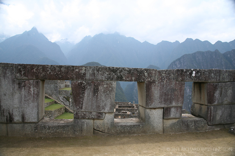 The Temple of the Three Windows at Machu Pichu.