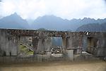 The Temple of the Three Windows at Machu Pichu.