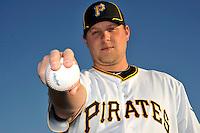 Feb 28, 2010; Bradenton, FL, USA; Pittsburgh Pirates  pitcher Evan Meek (47) during  photoday at Pirate City. Mandatory Credit: Tomasso De Rosa/ Four Seam Images
