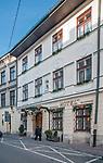 Hotel Wit Stwosz przy ulicy Mikołajskiej w Krakowie.<br /> Wit Stwosz hotel on the Mikołajska street in Cracow, Poland