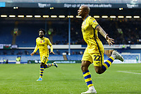 Andre Ayew of Swansea City celebrates his goal during the Sky Bet Championship match between Sheffield Wednesday and Swansea City at Hillsborough Stadium, Sheffield, England, UK. Saturday 09 November 2019