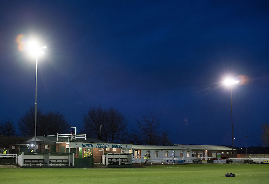 A general view of Grange Lane, home of North Ferriby United<br /> <br /> Photographer Chris Vaughan/CameraSport<br /> <br /> Vanarama National League - North Ferriby United v Lincoln City - Tuesday 21st February 2017 - Grange Lane - North Ferriby<br /> <br /> World Copyright &copy; 2017 CameraSport. All rights reserved. 43 Linden Ave. Countesthorpe. Leicester. England. LE8 5PG - Tel: +44 (0) 116 277 4147 - admin@camerasport.com - www.camerasport.com