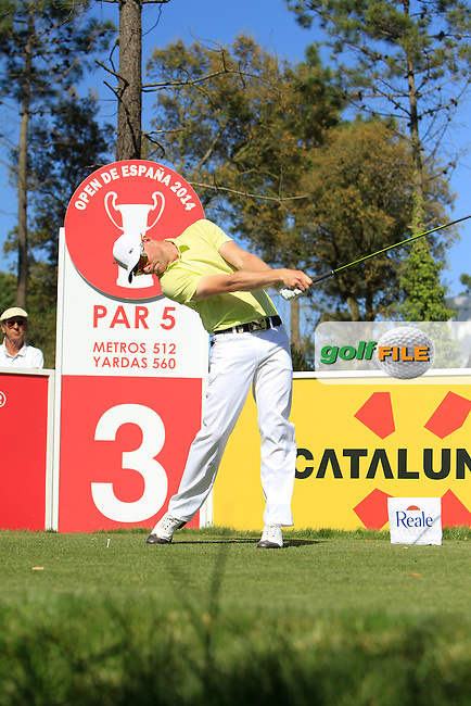 Jens Dantorp (SWE) on the 3rd tee during Thursday's Round 1 of The Open De Espana at The PGA Catalunya Resort. 15th May 2014.<br /> Picture:  Thos Caffrey / www.golffile.ie