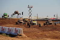 Apr 16, 2011; Surprise, AZ USA; LOORRS driver Doug Fortin (96) leads a pack of drivers during round 3 at Speedworld Off Road Park. Mandatory Credit: Mark J. Rebilas-