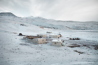 The Kyrgyz camp of Ak Chyktash in winter..Trekking with yak caravan through the Little Pamir where the Afghan Kyrgyz community live all year, on the borders of China, Tajikistan and Pakistan.