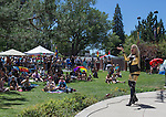 Stehanie Nicole LeDream performs during the Northern Nevada Pride Parade and Festival in Reno on Saturday, July 23, 2016.