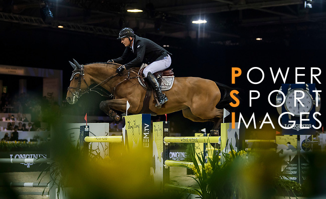 competes in the Longines Grand Prix during the Longines Masters of Hong Kong at AsiaWorld-Expo on 11 February 2018, in Hong Kong, Hong Kong. Photo by Zhenbin Zhong / Power Sport Images