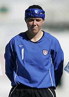 MAR 11, 2006: Quarteira, Portugal:  USWNT goalkeeper Jenni Branam