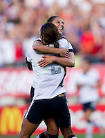 Sydney Leroux, Carli Lloyd.  The USWNT defeated Brazil, 4-1, at an international friendly at the Florida Citrus Bowl in Orlando, FL.