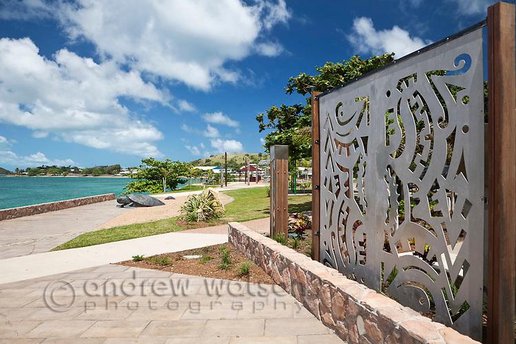 Artworks on Victoria Parade foreshore.  Thursday Island, Torres Strait Islands, Queensland, Australia
