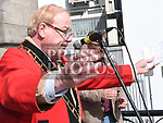 Mayor of Drogheda Frank Godfrey speaking at the rally against voilence in the town. Photo:Colin Bell/pressphotos.ie