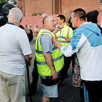 Tommy and Graeme act as marshals trying to calm an angry mob after Republicans invaded the loyalist Upper Ardoyne area on July. .