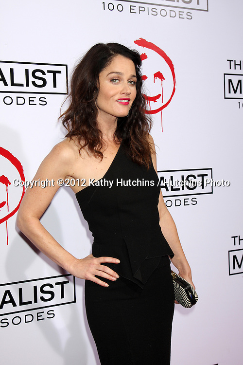 """LOS ANGELES - OCT 11:  Robin Tunney arrives at """"The Mentalist"""" 100th Episode Party at The Edison on October 11, 2012 in Los Angeles, CA"""