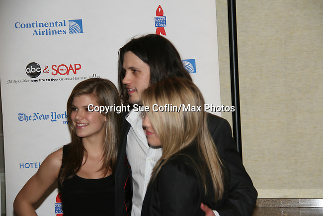 "General Hospital - Nathan Parsons ""Ethan"" poses with One Life To Live's Kelley Missal & Kristen Alderson at the 6th Annual ABC/SoapNet salutes Broadway Cares/Equity Fights Aids - An Evening of Musical Entertainment & Comedy on March 21, 2010 at the New York Marriott Marquis, New York City, New York. (Photo by Sue Coflin/Max Photos)"