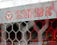 A general view of the club logo on display during the Sky Bet Championship match between Brentford and Leeds United at Griffin Park, London, England on 4 November 2017. Photo by Carlton Myrie.