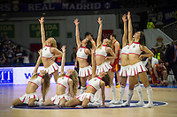 Real Madrid´s cheerleaders during 2014-15 Euroleague Basketball match between Real Madrid and Galatasaray at Palacio de los Deportes stadium in Madrid, Spain. January 08, 2015. (ALTERPHOTOS/Luis Fernandez) /NortePhoto /NortePhoto.com