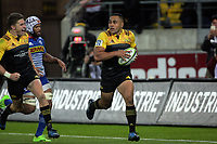Ngani Laumpae scores his second try during the Super Rugby match between the Hurricanes and Stormers at Westpac Stadium in Wellington, New Zealand on Friday, 5 May 2017. Photo: Mike Moran / lintottphoto.co.nz