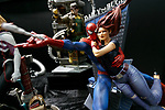 Action figures of Spider-Man on display during the Tokyo Comic Con 2017 at Makuhari Messe International Exhibition Hall on December 1, 2017, Tokyo, Japan. This is the second year that San Diego Comic-Con International held the event in Japan. Tokyo Comic Con runs from December 1 to 3. (Photo by Rodrigo Reyes Marin/AFLO)