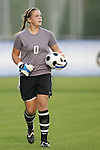 05 November 2008: Virginia Tech goalkeeper Kristin Carden. Virginia Tech and Florida State University played to a 0-0 tie after two overtimes at Koka Booth Stadium at WakeMed Soccer Park in Cary, NC in a women's ACC tournament quarterfinal game.  Virginia Tech advanced to the semifinal round in penalty kicks, 4-2.